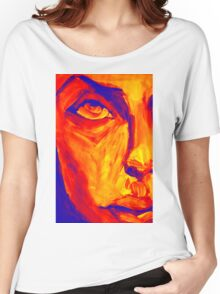 Explosive Colorful Portrait Painting Women's Relaxed Fit T-Shirt
