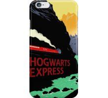 Hogwarts Express Retro Travel Poster iPhone Case/Skin