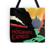 Hogwarts Express Retro Travel Poster Tote Bag