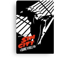 A Dame To Kill For Canvas Print