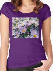 Michaelmas daisy Women's Fitted Scoop T-Shirt