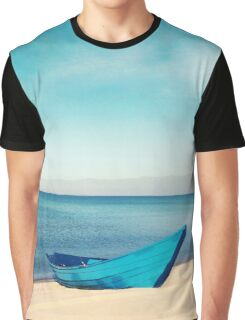Boat and the Beach Graphic T-Shirt