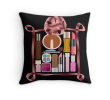 A wonderful set , set of cosmetics Throw Pillow