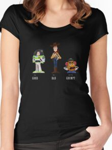 The Good, the Bad and the Grumpy Women's Fitted Scoop T-Shirt