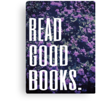 Read Good Books Canvas Print