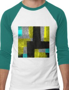Abstract Tiles Men's Baseball ¾ T-Shirt