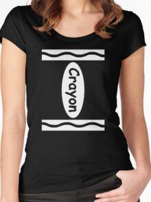 Halloween Crayon Costume Shirt - Funny Halloween Shirt Women's Fitted Scoop T-Shirt