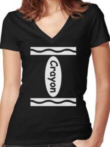 Halloween Crayon Costume Shirt - Funny Halloween Shirt Women's Fitted V-Neck T-Shirt