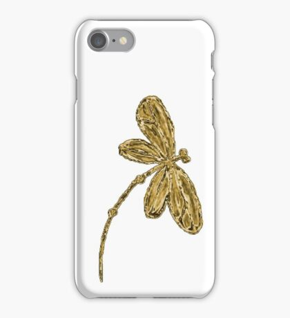 Gorgeous Golden Dragonfly!!! iPhone Case/Skin