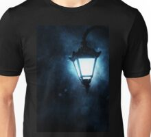 Street Lamp at Rainy Night Unisex T-Shirt