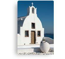 White Church, Oia, Santorini Canvas Print