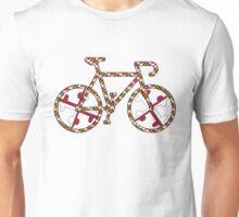 Maryland Flag Bicycle  Unisex T-Shirt