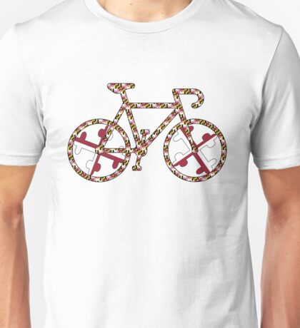 Maryland Flag Bicycle  Unisex T-Shirt