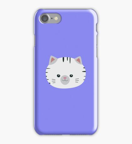 Black and White tiger cat iPhone Case/Skin
