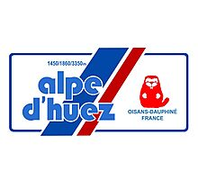 Alpe D'Huez Cycling Mountain Marmotte Beaver Photographic Print