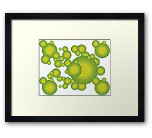 The Green 70's year styling  Framed Print
