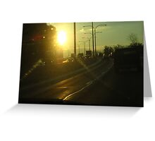 Sunset on the Highway Greeting Card