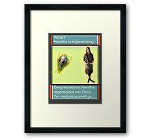 Handles' Regeneration (Evolution Style) Framed Print