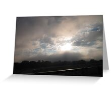Clouds on the Highway Greeting Card