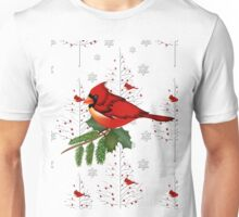 Cardinal in the Snow Unisex T-Shirt