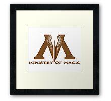 Ministry of Magic Framed Print