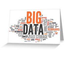 big data orange cloud Greeting Card