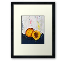 Apricot in Half Framed Print