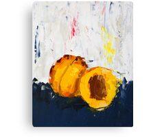 Apricot in Half Canvas Print