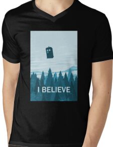 I Believe Mens V-Neck T-Shirt