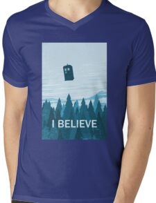 I Believe Mens V-Neck T-Shirt
