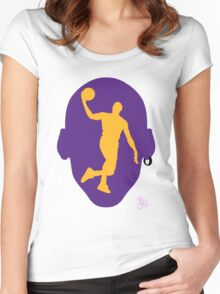 Basketball Icon Dunk LA Women's Fitted Scoop T-Shirt