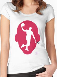 Basketball Icon Dunk CHI2 Women's Fitted Scoop T-Shirt
