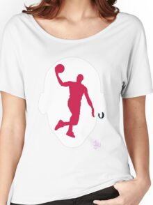 Basketball Icon Dunk CHI1 Women's Relaxed Fit T-Shirt