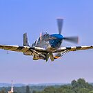 P-51C Mustang 43-25147 NL487FS taking off by Colin Smedley