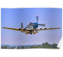 P-51C Mustang 43-25147 NL487FS taking off Poster
