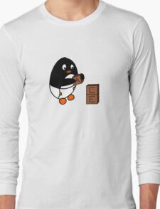 Baby Penguin With Blocks Long Sleeve T-Shirt