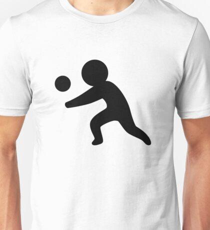 Volleyball Stickfigure Unisex T-Shirt