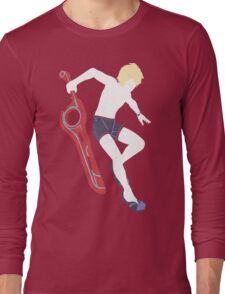 Beach Shulk Vector Long Sleeve T-Shirt