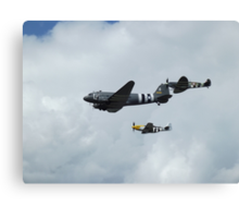 D-Day Formation - Mustang, Dakota, & Spitfire Canvas Print