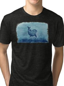 Blue Notches the Watercolor Dolphin Tri-blend T-Shirt