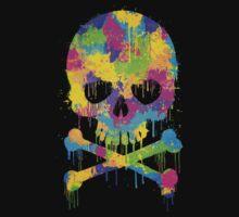 Abstract Trendy Graffiti Watercolor Skull  T-Shirt
