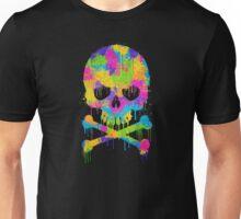Abstract Trendy Graffiti Watercolor Skull  Unisex T-Shirt