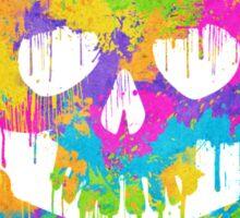 Abstract Trendy Graffiti Watercolor Skull  Sticker