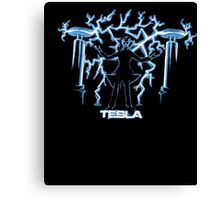 Nikola Tesla, Mad Scientist | Unisex Science Engineering Geek Humor T-shirt Canvas Print