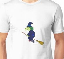 Wendolina the Witch - Riding on her Broomstick Unisex T-Shirt