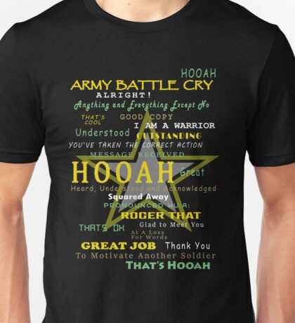 Army - Army Battle Cry Unisex T-Shirt
