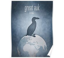 Great auk - extinct animals Poster