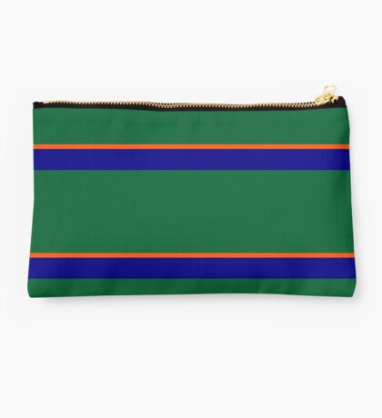Green Blue and Orange Banded Studio Pouch