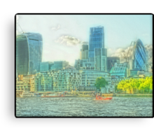 City Of London - The dreamy vista Canvas Print