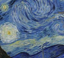 The Starry Night by Vincent Van Gogh Sticker